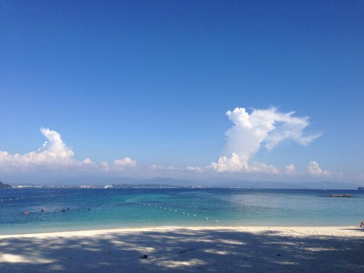 The beautiful beach at Sapi Island.