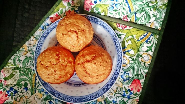 Peanut Butter, Banana and Oat Muffins