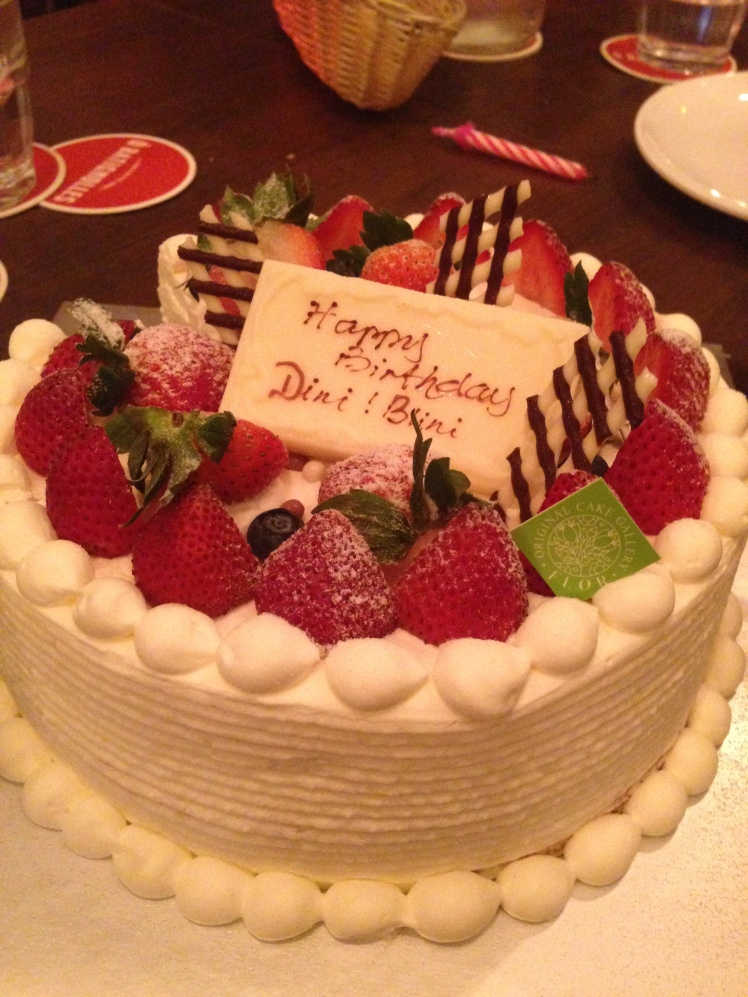 My beautiful and super tasty Strawberry Birthday Shortcake from Flor Patisserie