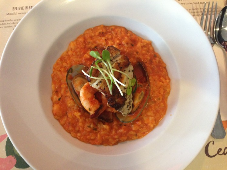 Cedele's Red Seafood Risotto