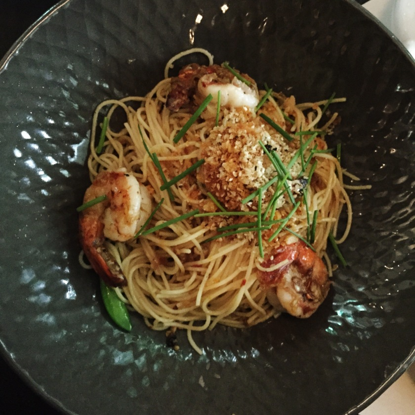 Spicy King Prawn Aglio Olio