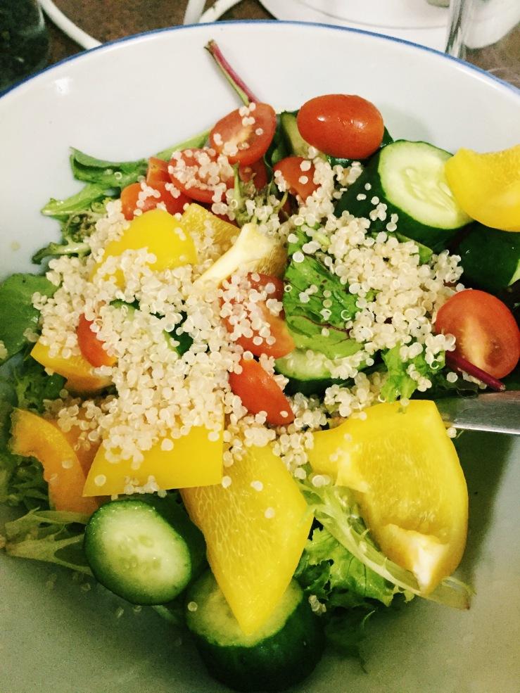 Pre-dressed salad