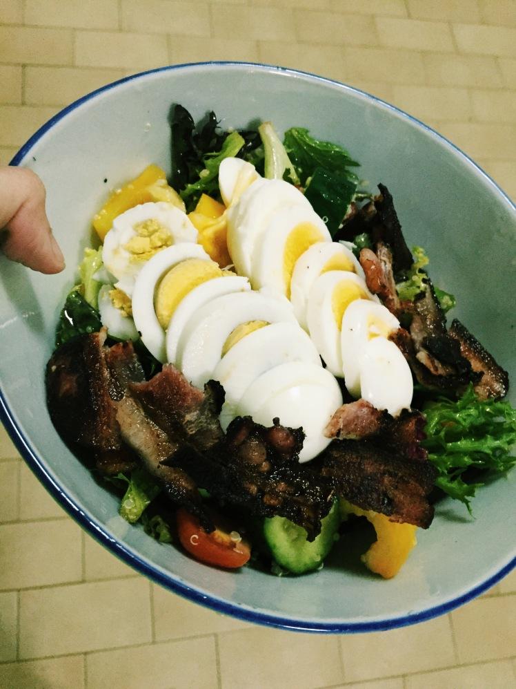 Last-resort salad in it's full glory