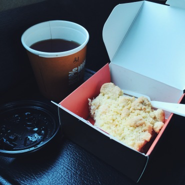 Apple crumble - it made my bus journey bearable