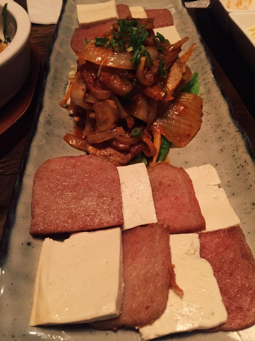 Tofu kimchi nachos
