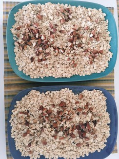 Added nuts + chia seeds