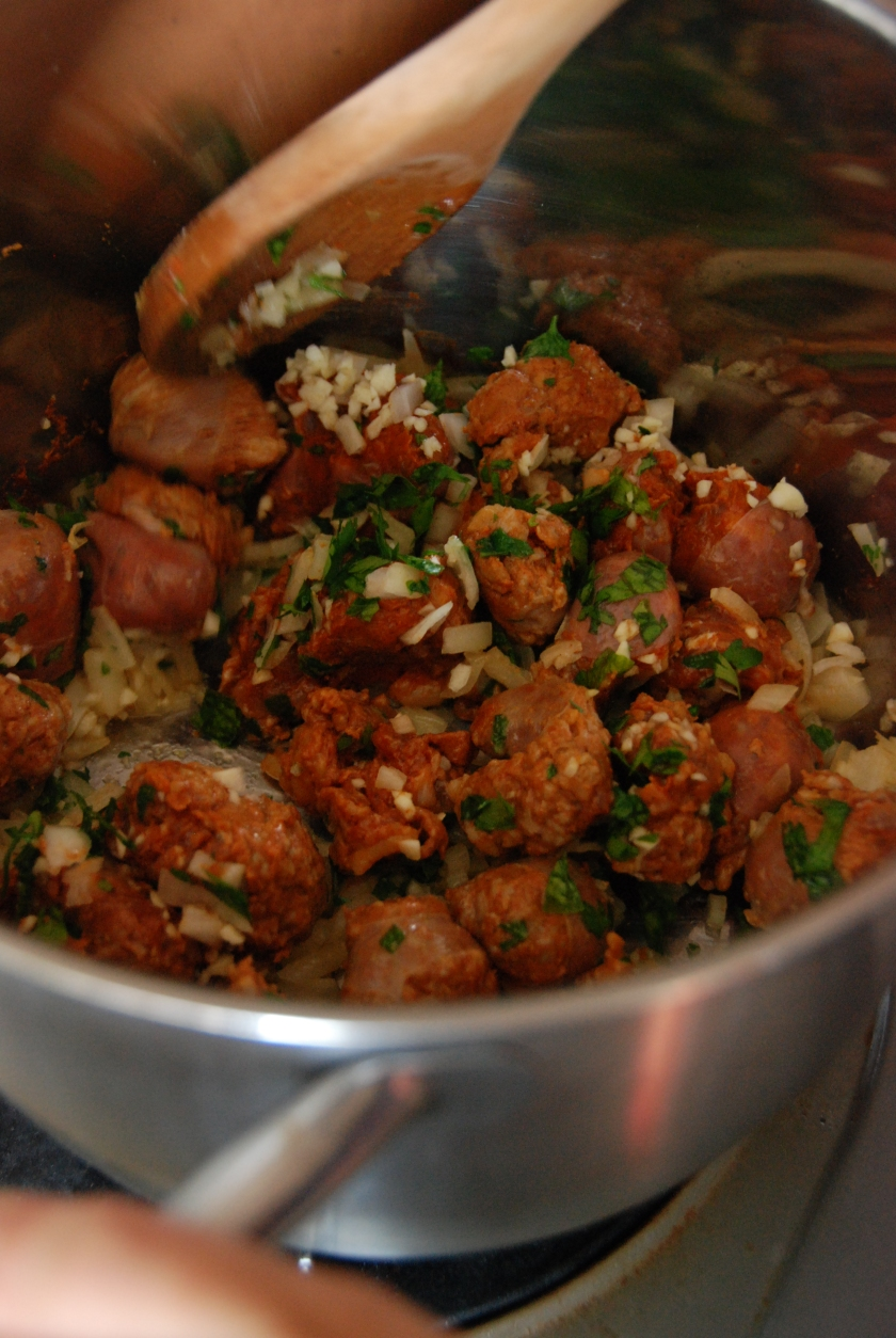 Chorizo and spices