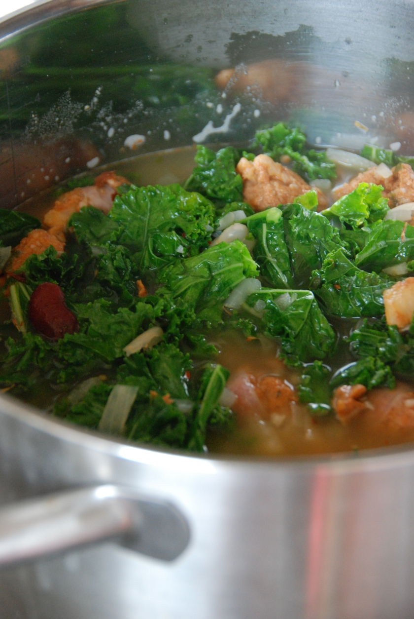 Chorizo and kale