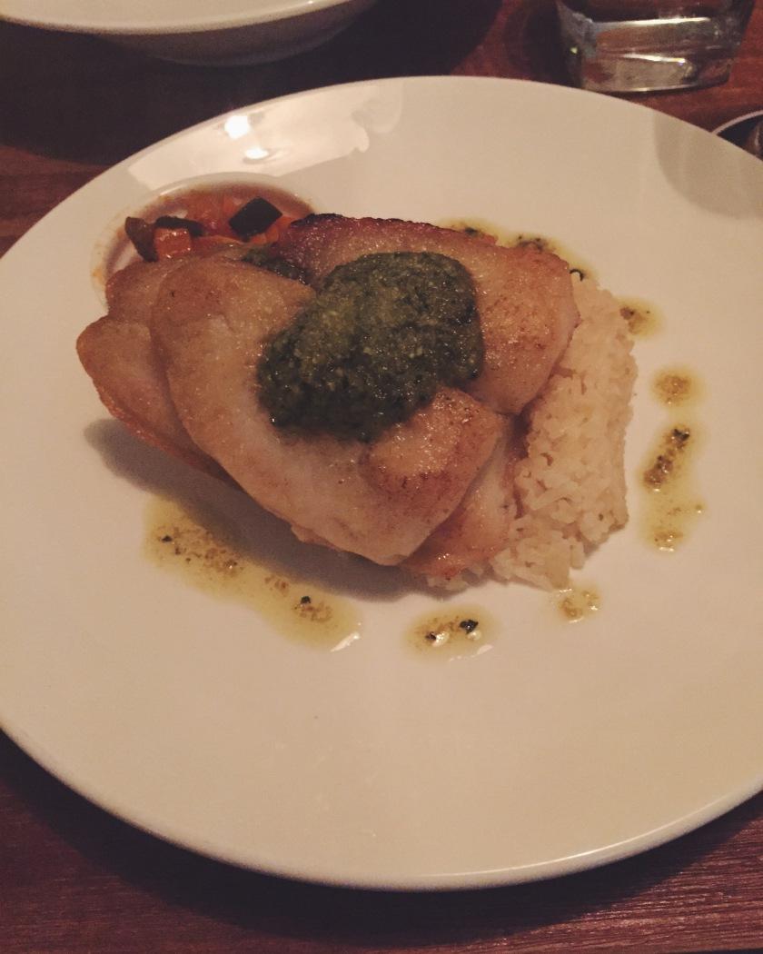 Pan Seared Fish in Pesto