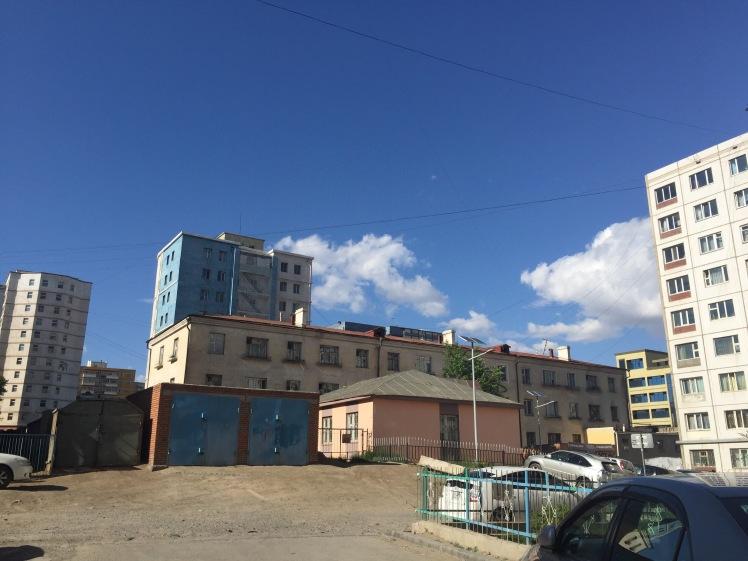 Streets near the apartment in Ulaanbaatar