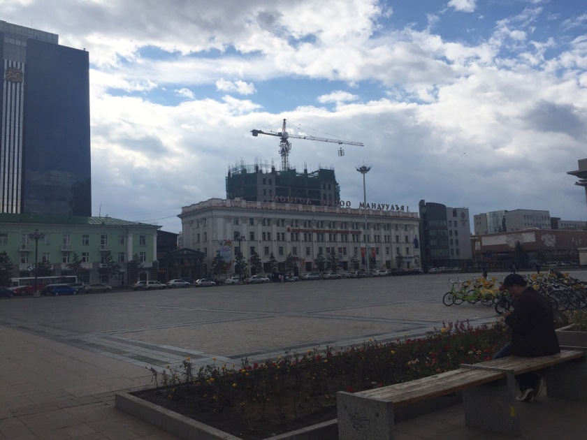 Lightly edited shot from the Sukhbaatar Square. Lot of construction going on in Mongolia