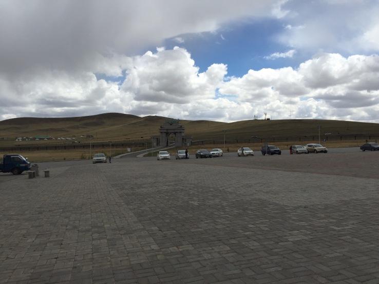 Parking lot at the Genghis Khan memorial