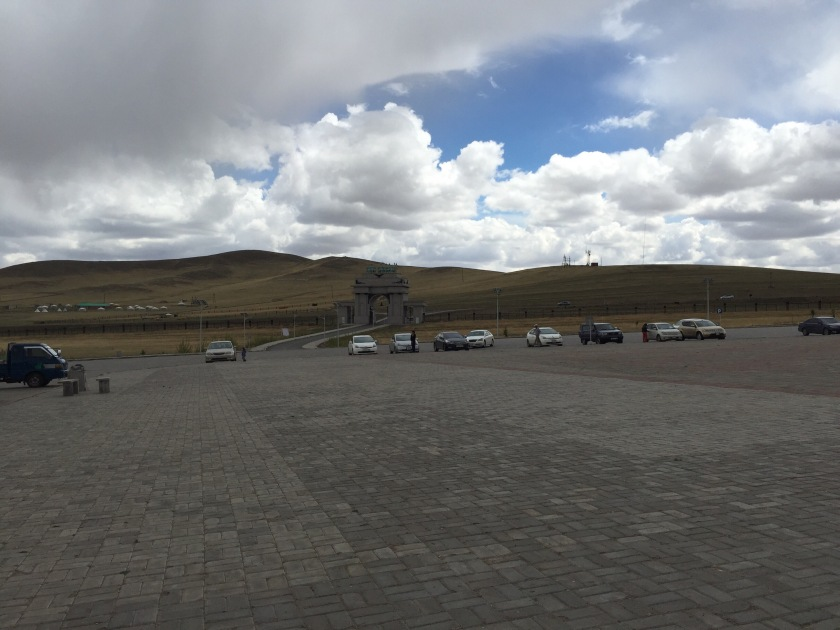 Parking lot at the Genghis Khan memorial