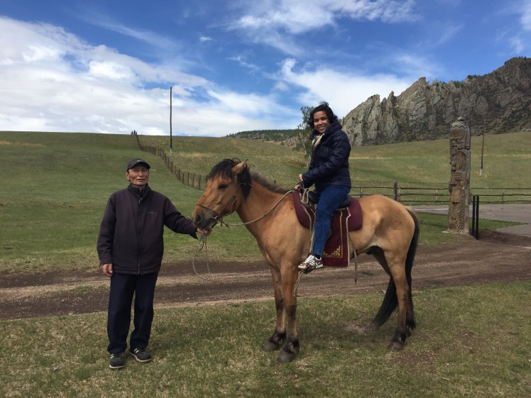 """Me and my father-in-law? I don't know what I'm supposed to call him, but father in Mongolian is """"Ow"""" as in ow!"""