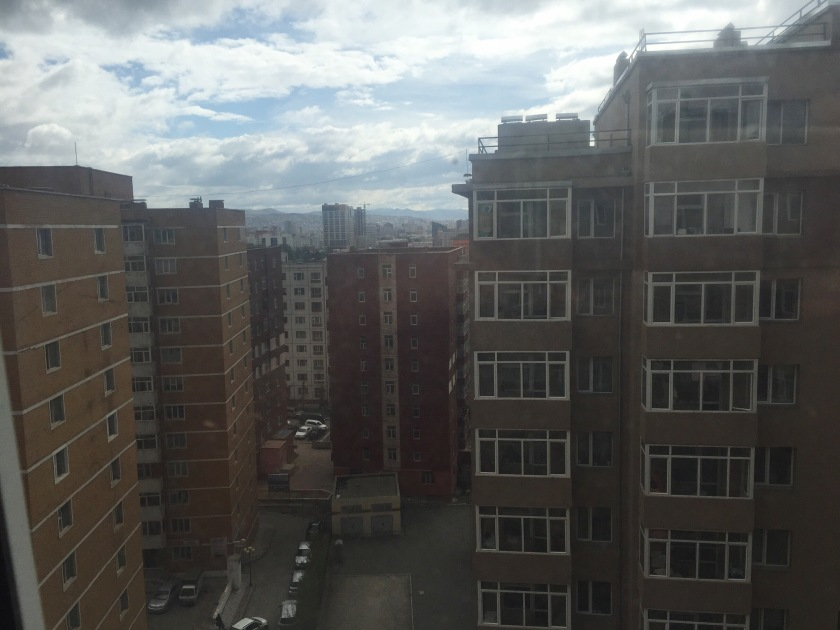 View from the apartment in Ulaanbaatar