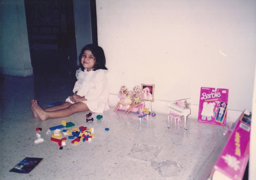 Five years old and surrounded by Barbie Dolls #blessed